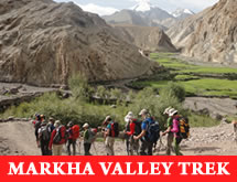 india trekking in markha valley trek